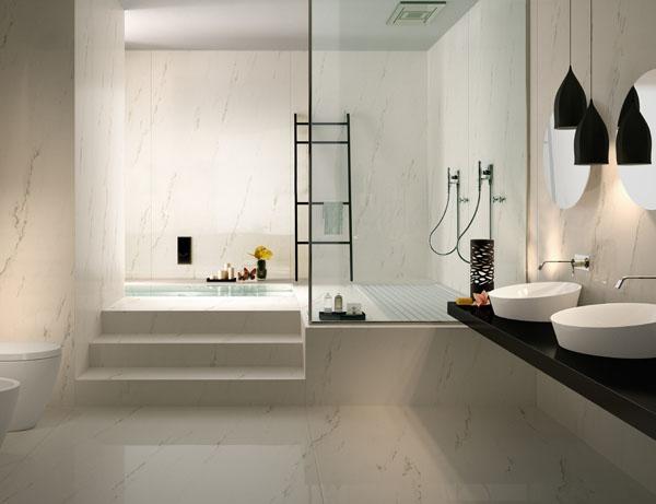 banheiro com marmore
